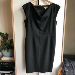Banana Republic black cowl neck dress 14